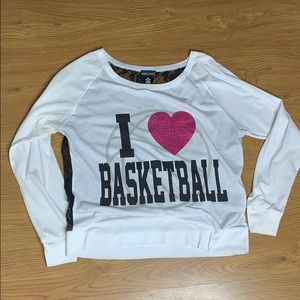 I ❤️ Basketball White long sleeve shirt size small